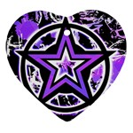 Purple Star Heart Ornament (Two Sides)