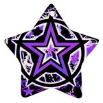 Purple Star Star Ornament (Two Sides)