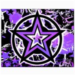 Purple Star Canvas 8  x 10