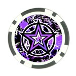 Purple Star Poker Chip Card Guard