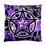 Purple Star Cushion Case (One Side)