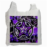 Purple Star Recycle Bag (One Side)