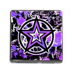 Purple Star Memory Card Reader with Storage (Square)