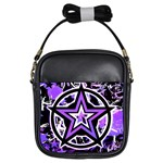 Purple Star Girls Sling Bag