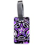 Purple Star Luggage Tag (one side)
