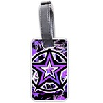 Purple Star Luggage Tag (two sides)