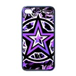 Purple Star Apple iPhone 4 Case (Black)