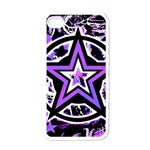 Purple Star Apple iPhone 4 Case (White)