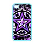 Purple Star Apple iPhone 4 Case (Color)