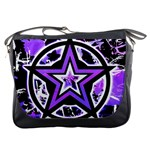 Purple Star Messenger Bag