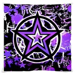 Purple Star Large Cushion Case (Two Sides)