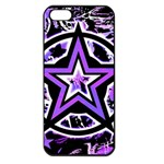 Purple Star Apple iPhone 5 Seamless Case (Black)