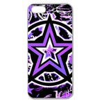 Purple Star Apple Seamless iPhone 5 Case (Clear)