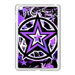 Purple Star Apple iPad Mini Case (White)