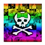 Rainbow Skull Tile Coaster