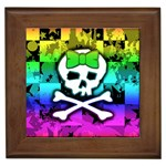 Rainbow Skull Framed Tile