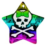 Rainbow Skull Ornament (Star)