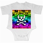 Rainbow Skull Infant Creeper