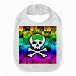 Rainbow Skull Bib