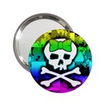 Rainbow Skull 2.25  Handbag Mirror