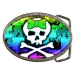 Rainbow Skull Belt Buckle