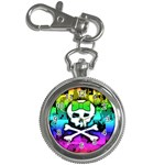 Rainbow Skull Key Chain Watch