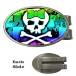 Rainbow Skull Money Clip (Oval)