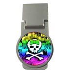 Rainbow Skull Money Clip (Round)