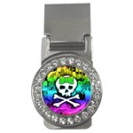 Rainbow Skull Money Clip (CZ)