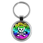 Rainbow Skull Key Chain (Round)
