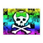 Rainbow Skull Sticker (A4)