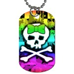 Rainbow Skull Dog Tag (One Side)