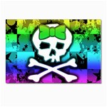Rainbow Skull Postcard 4 x 6  (Pkg of 10)