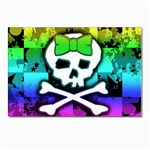 Rainbow Skull Postcards 5  x 7  (Pkg of 10)