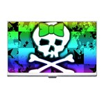 Rainbow Skull Business Card Holder