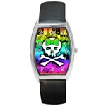 Rainbow Skull Barrel Style Metal Watch