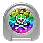 Rainbow Skull Travel Alarm Clock