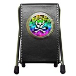 Rainbow Skull Pen Holder Desk Clock
