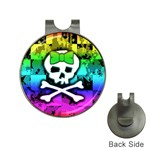 Rainbow Skull Golf Ball Marker Hat Clip