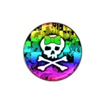 Rainbow Skull Hat Clip Ball Marker (4 pack)