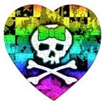 Rainbow Skull Jigsaw Puzzle (Heart)