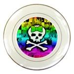 Rainbow Skull Porcelain Plate