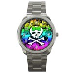 Rainbow Skull Sport Metal Watch