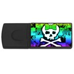 Rainbow Skull USB Flash Drive Rectangular (4 GB)