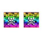 Rainbow Skull Cufflinks (Square)