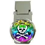 Rainbow Skull Money Clip Watch