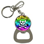 Rainbow Skull Bottle Opener Key Chain