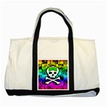 Rainbow Skull Two Tone Tote Bag