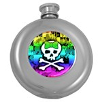 Rainbow Skull Hip Flask (5 oz)