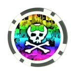 Rainbow Skull Poker Chip Card Guard